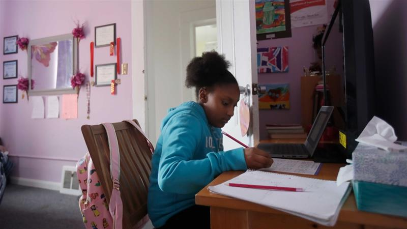 Virus Forced Schools Online But Many
