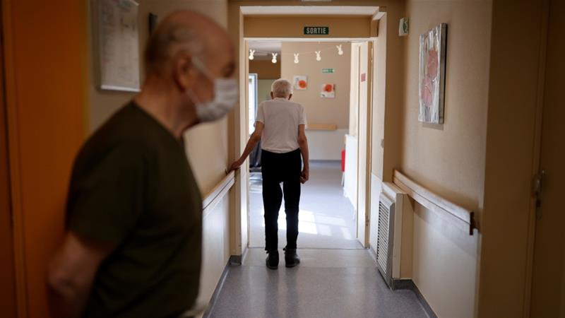 Elderly care homes have been hit particularly hard by the coronavirus pandemic [Christian Hartmann/Reuters]