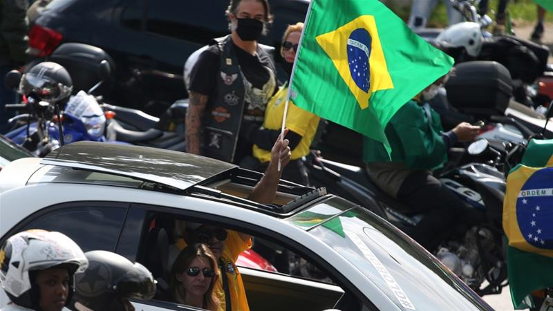 Bolsonaro joins anti-lockdown coronavirus protests in Brazil