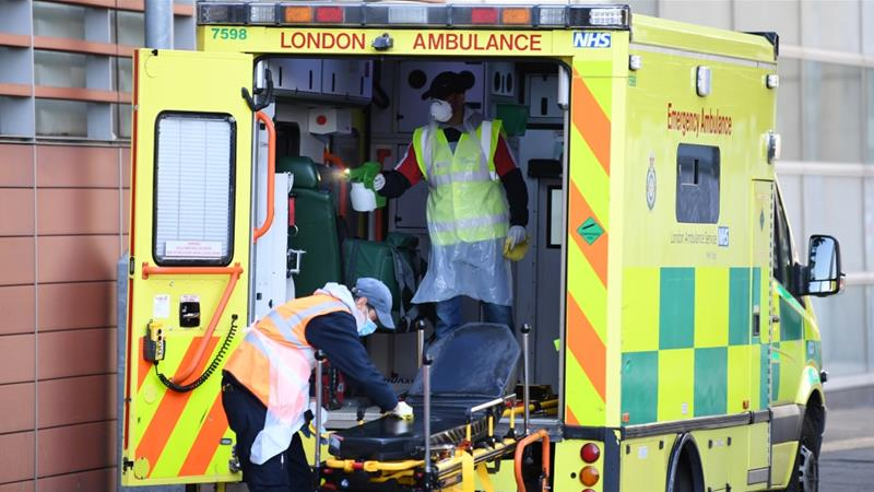The UK, which scientists say is probably experiencing the peak of the outbreak, has reported the world's fifth-highest national death toll from COVID-19 [Daniel Leal-Olivas/AFP]