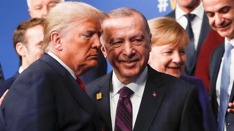 Erdogan told Trump that Turkey would continue to 'demonstrate solidarity in every way possible' with the US [File: Peter Nicholls/Pool/Reuters]