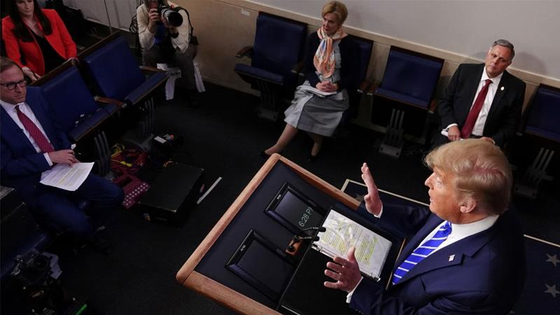 Warnings issued after Trump's remarks about disinfectants