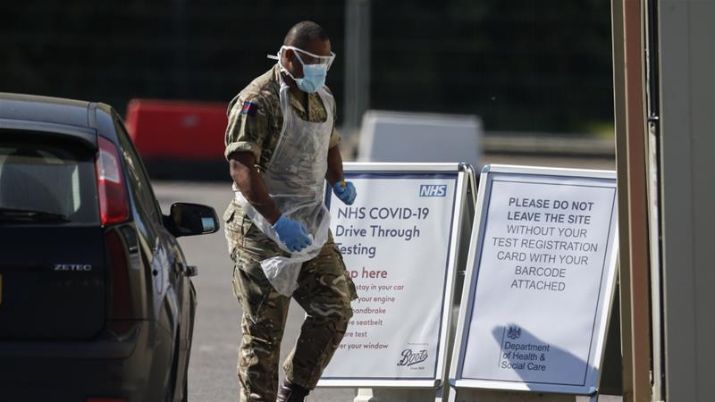 United Kingdom outpaces Italy with Europe's highest official virus death toll