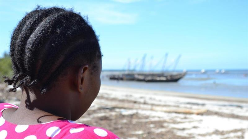 Amani W, a former domestic worker who until 2017 worked for abusive employers in Oman, is now unable to find a job and is considering migrating again from Bagamoyo, Tanzania, 2017 [Rothna Begum/HRW]