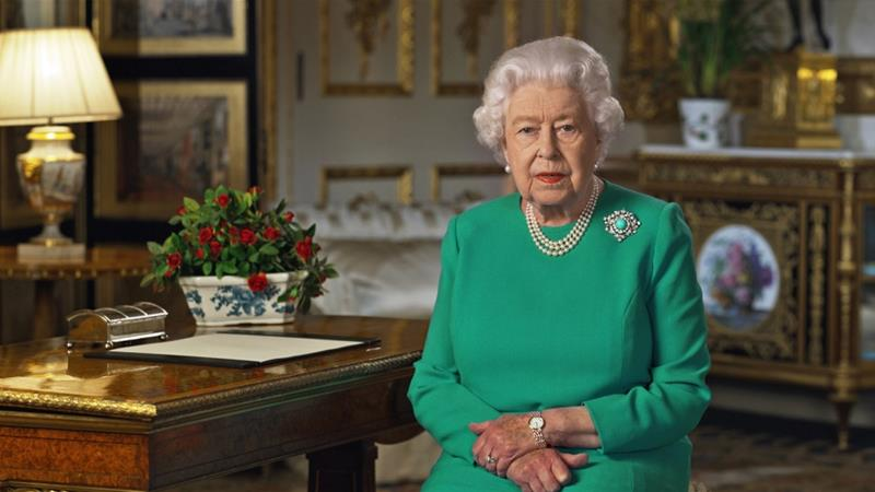 The UK's Queen Elizabeth II urged people to rise to the challenge posed by the coronavirus outbreak, in a rare special address to the UK [Buckingham Palace/AFP]