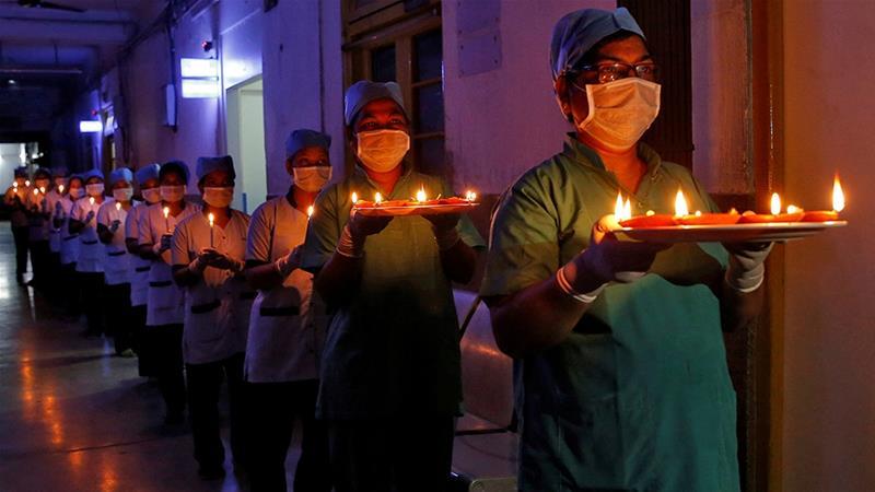 Coronavirus: India lights up to heed Modi's call for unity   India ...
