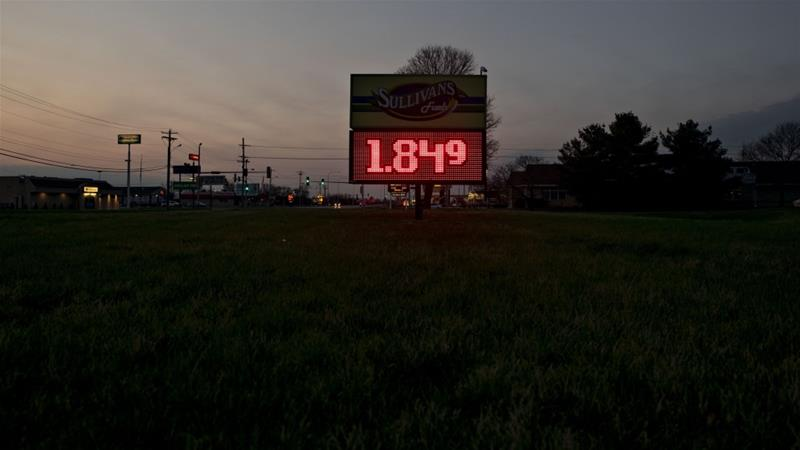 The price of fuel outside a Sullivan's gas station in Princeton Illinois the United States where shale producers are hurting and some analysts warn that no deal OPEC can make can ease the pain of an unprecedented demand sap and growing glut [Daniel Ack