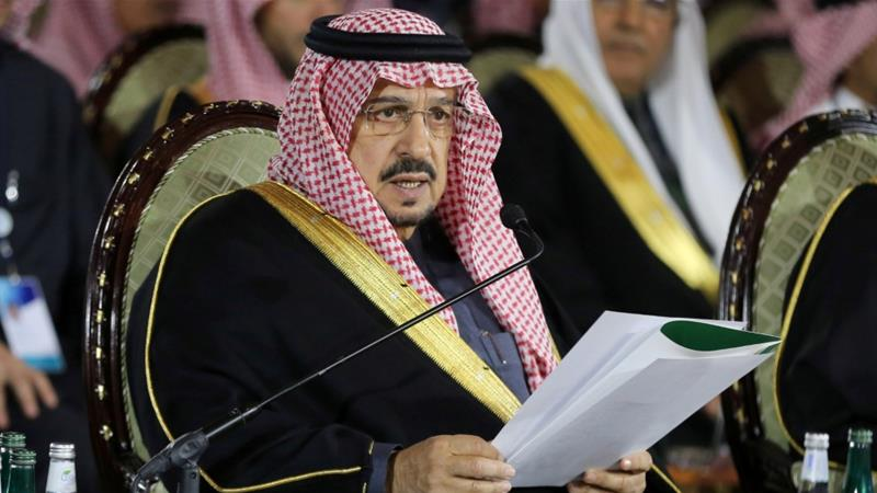 Prince Faisal bin Bandar bin Abdulaziz Al Saud is reportedly in intensive care after contracting coronavirus [Ahmed Yosri/Reuters]
