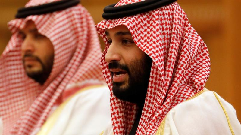 The Public Investment Fund at the centre of the plan by Saudi Crown Prince Mohammed bin Salman (right) to diversify the Saudi economy - raised an additional $10bn loan last year [File: How Hwee Young/Reuters]