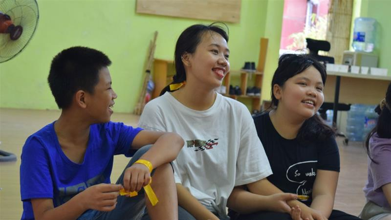 Students attend a WeGrow Edu sex education learning camp for children from 12 to 15 years [WeGrow Edu team]