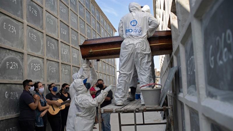 tổng số ca nhiễm virus Vũ Hán đã lên đến hơn 6 triệu người. Brazil hiện đứng thứ tư thế giới về số ca tử vong.