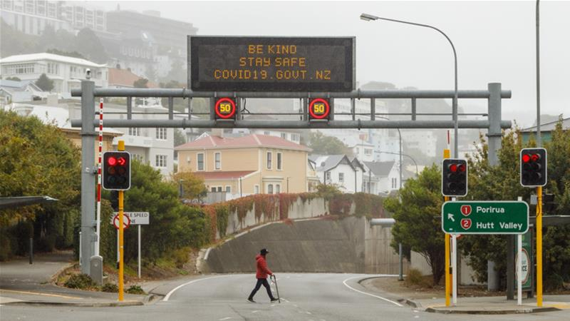 Empty motorways are seen during the coronavirus lockdown in Wellington, New Zealand in April, 2020 [Anadolu/Mike Clare]
