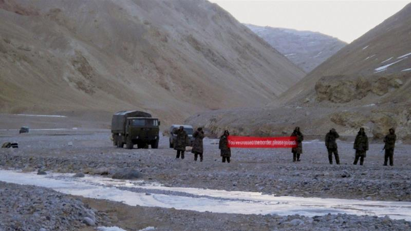 China and India have accused each other's militaries of trespassing across their disputed border in Ladakh [The Associated Press]