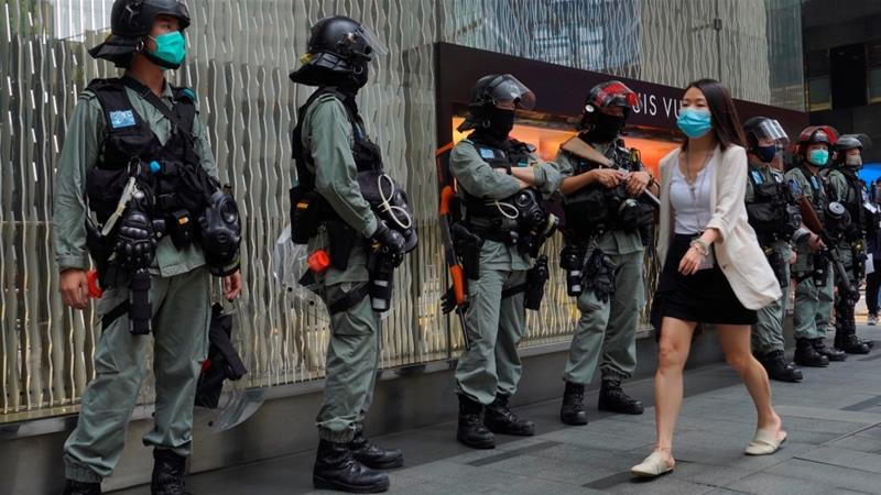 Hong Kong's government has told the US not to 'interfere' in its internal affairs [Vincent Yu/AP Photo]
