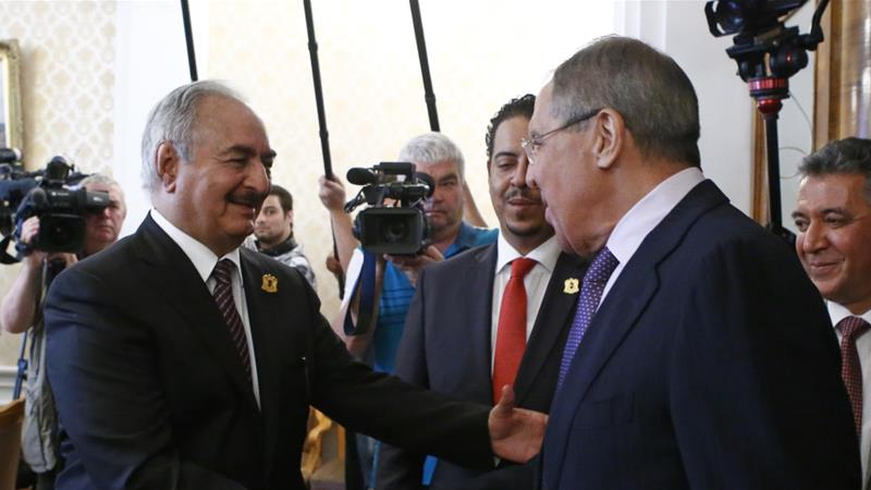 Haftar in January refused to sign a ceasefire agreement at a summit held in the Russian capital [File: Karpukhin/Reuters]