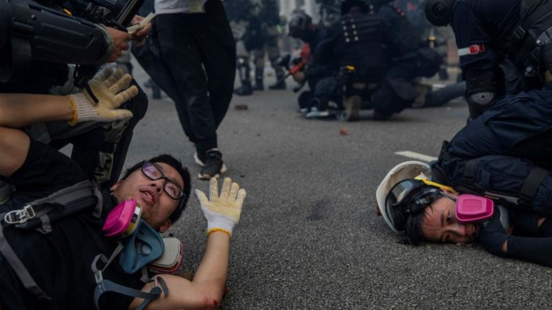 'Political virus': China rounds on Hong Kong protesters