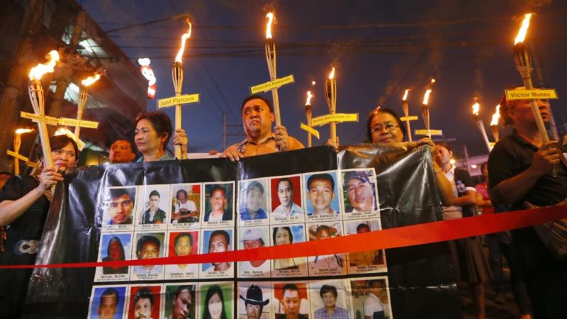 The Philippines is one of the world's most dangerous countries for journalists, with at least 186 people working in the media killed since the country's return to democracy in 1986 [File: Bullit Marquez/AP]