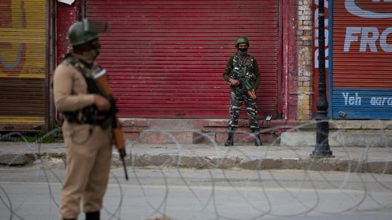 Indian forces killed a top rebel commander on Wednesday and shut down mobile phone and internet services in the region [Dar Yasin/AP]