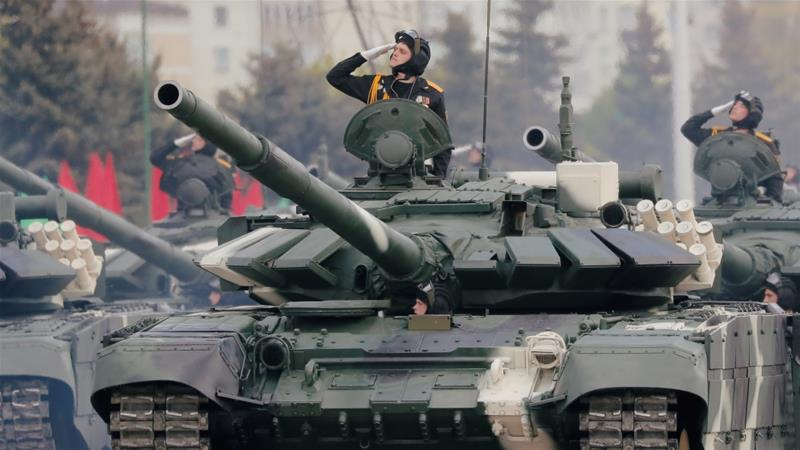 Belarus holds military parade amid pandemic to celebrate victory over Nazis