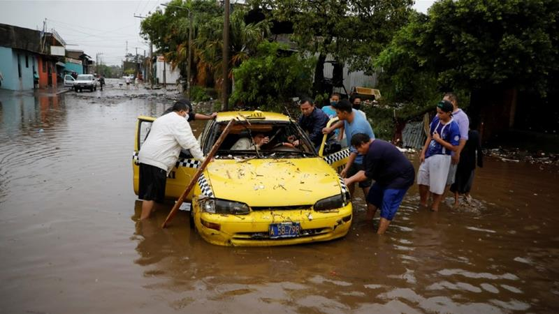 Season's 1st tropical storm drenches part of Central America