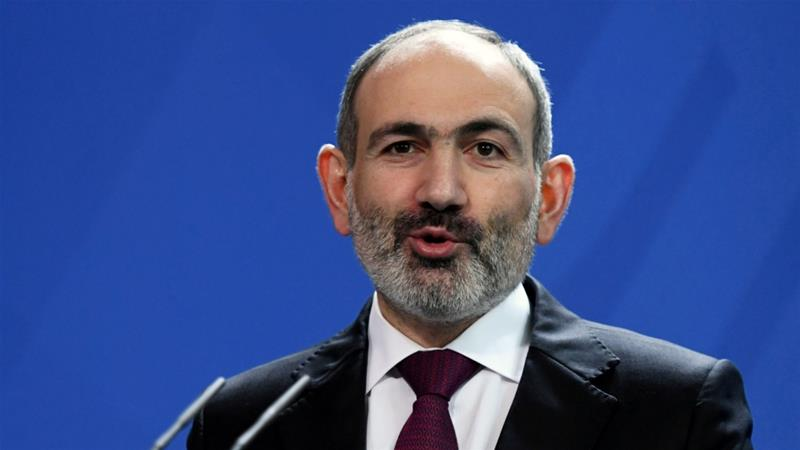 Pashinyan was elected in the wake of mass protests two years ago [File: Annegret Hilse/Reuters]