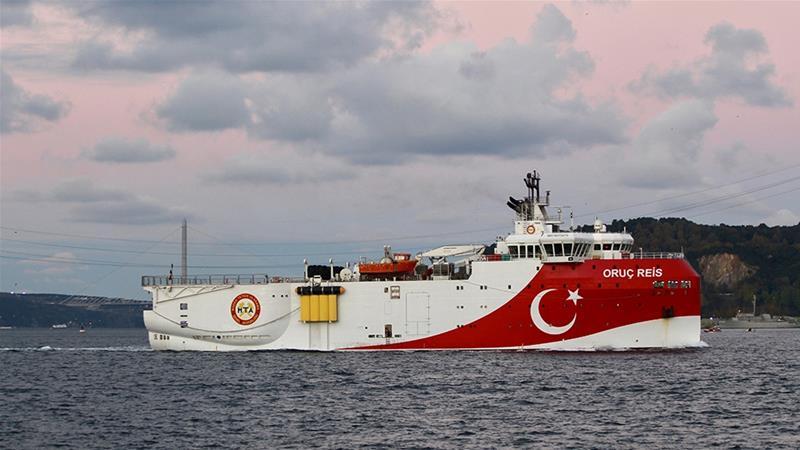 Turkish seismic research vessel Oruc Reis sails in the Bosphorus in Istanbul, Turkey [File: Yoruk Isik/ Reuters]