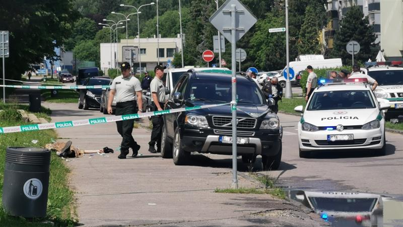 Police say a man with a knife attacked a school in Slovakia [Erika Durcova/TASR via AP]