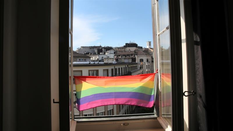 More than 80 percent of Swiss support same-sex marriage, according to a survey [Denis Balibouse/Reuters]