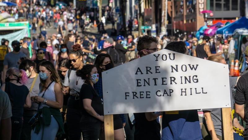 In Seattle A Project Toward A Cop Free World George Floyd Protests News Al Jazeera