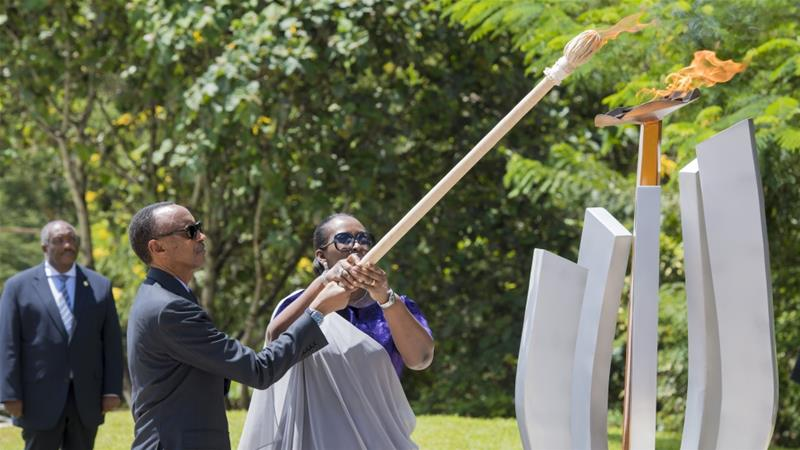 Rwanda's President Paul Kagame at an official commemoration remembering the atrocities [File: Anadolu]