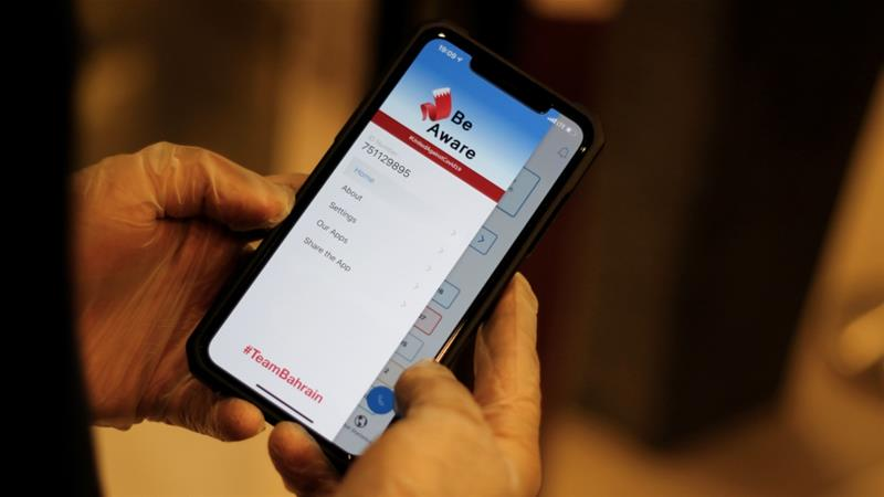 The WHO has questioned the effectiveness of mobile apps in curbing the spread of coronavirus [Hamad I Mohammed/Reuters]