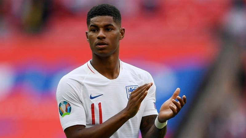 Rashford has also raised 20 million pounds ($25m) with a charity to supply meals to struggling families [File: Tony O'Brien/Reuters]