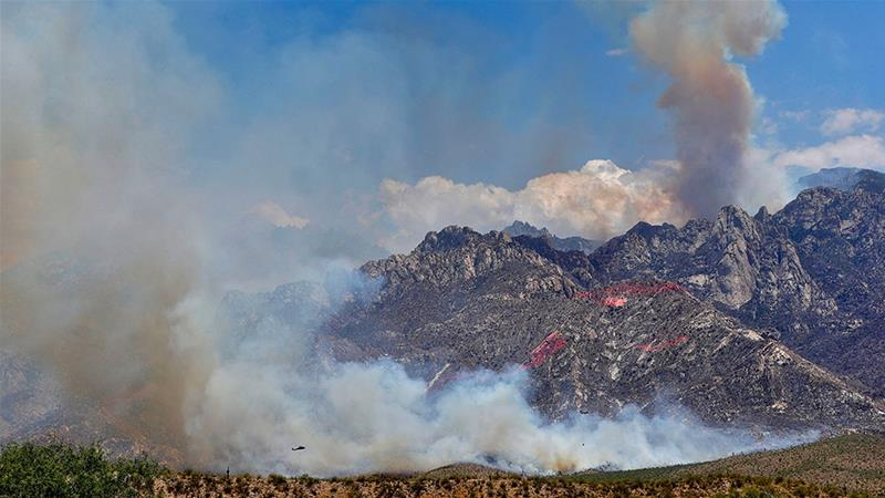 As the heat builds and the winds increase, the fire danger remains at critical levels [The Associated Press]