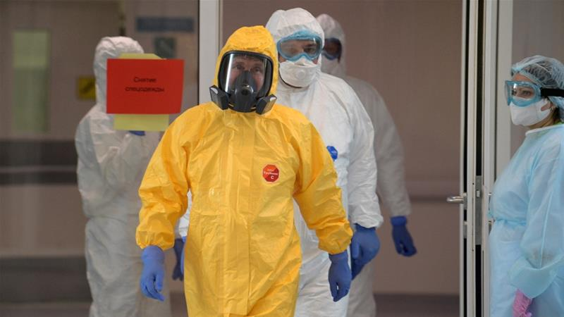 Russia's Putin protected from coronavirus by disinfection tunnel