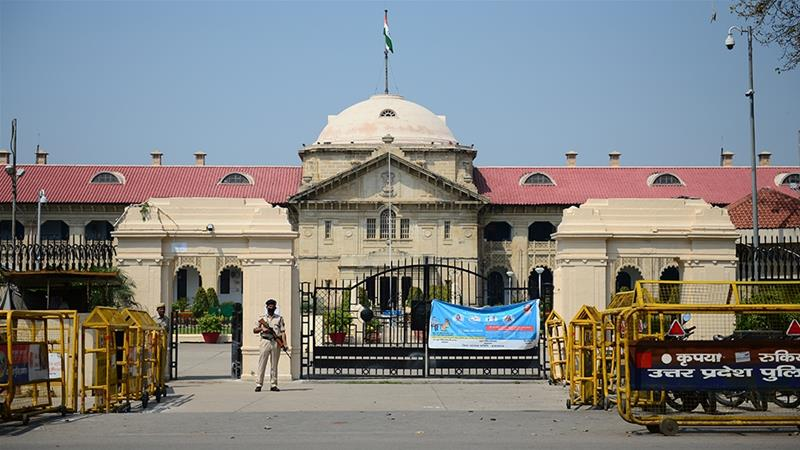 General view of a deserted Allahabad High Court in Uttar Pradesh state amid the coronavirus pandemic [Sanjay Kanojia/AFP]