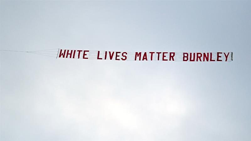 Airport suspends banner towing after 'White Lives Matter' incident at football match