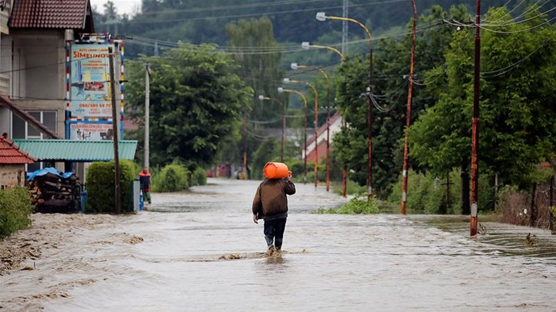 Two people died and one was reported missing in Ukraine's Ivano-Frankivsk with more than 1,000 homes flooded [AP]