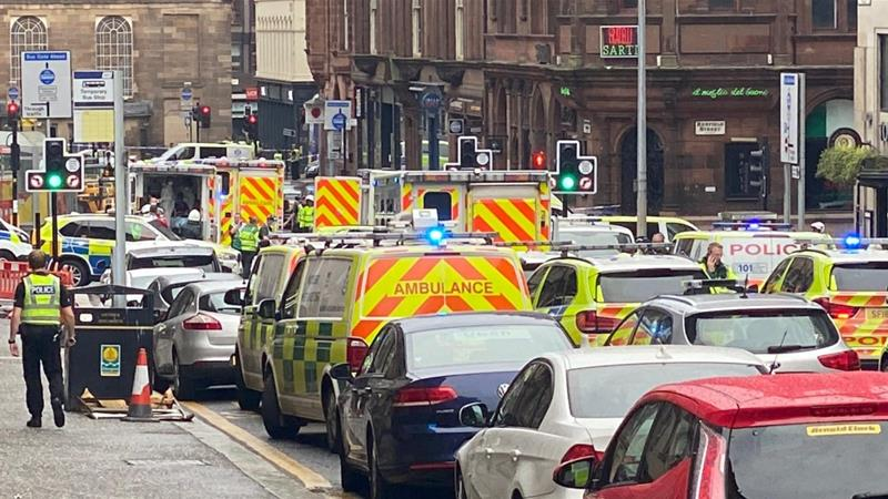 There is a heavy police presence on West George Street [Reuters]