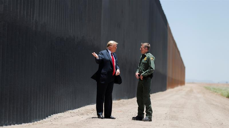 United States President Donald Trump made building the wall an election promise in 2016 and he said Mexico would pay for its construction [Carlos Barria/Reuters]