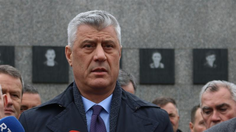 President Hashim Thaci was travelling to Washington, DC in the United States for the discussions when the indictment was announced [File: Getty Images]