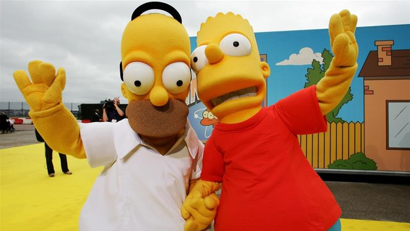 The Simpsons, a long-running animated series, was first launched in 1989 [Claire Greenway/Getty]