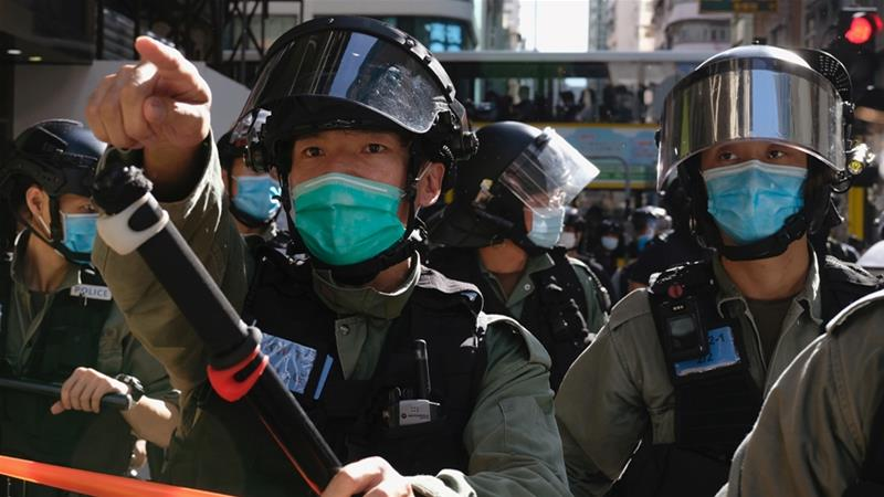 Protest on Hong Kong streets as China lawmakers mull security law