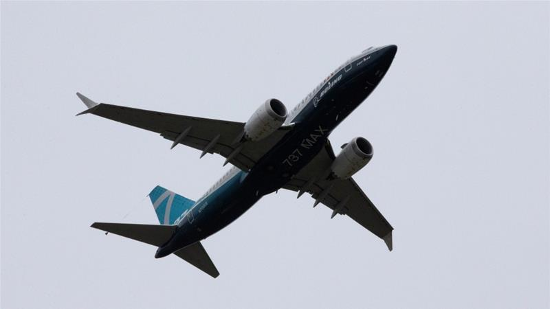 A Boeing 737 MAX aeroplane takes off on Monday on a test flight from Boeing Field in Seattle, Washington, United States, in a crucial moment in the planemaker's worst-ever crisis [File: Karen Ducey/Reuters]