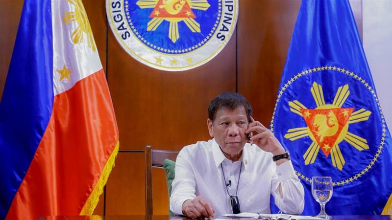 President Duterte's six-year term in office will end on June 30, 2022 and the current constitution bars him from seeking re-election [File: Joey Dalumpines/Malacanang Presidential Photographers Division via AP Photo]