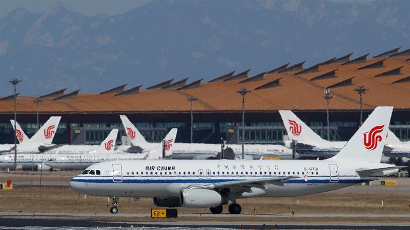 The flight ban announced by the US penalises China after Beijing failed to comply with an existing agreement on flights between the world's two largest economies [File: Thomas Peter/Reuters]