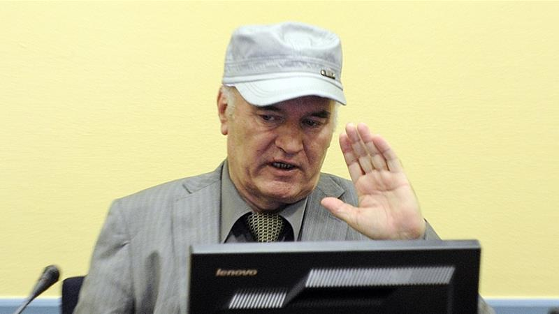 The UN International Criminal Tribunal for the former Yugoslavia sentenced Mladic to life on November 22, 2017 for the Srebrenica genocide and other crimes [File: Martin Meissner/Reuters]