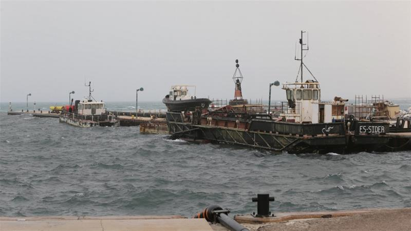 Since January, groups loyal to Haftar have been blocking the production and export of oil from the country's most important fields and terminals [Esam Omran Al-Fetori/Reuters]