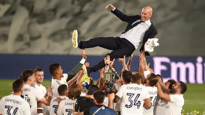 Zidane steers Real Madrid to record 34th Spanish league title