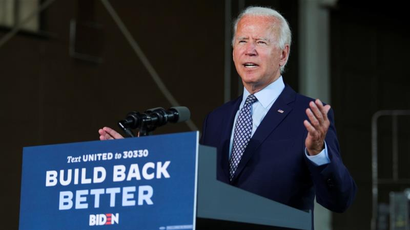 Biden says he's getting briefings from lawyers on VP options