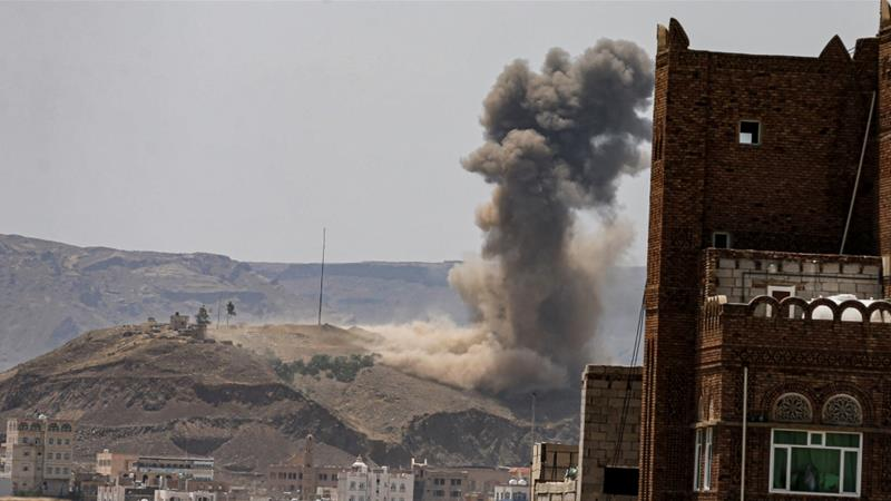 Saudi-led coalition hits Houthi-held areas in renewed air raids